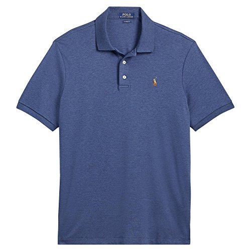 Ralph Lauren Big and Tall Soft-Touch Pima Cotton Polo Shirt Classic-Fit (XL Tall, Rustic Navy Heather) ()