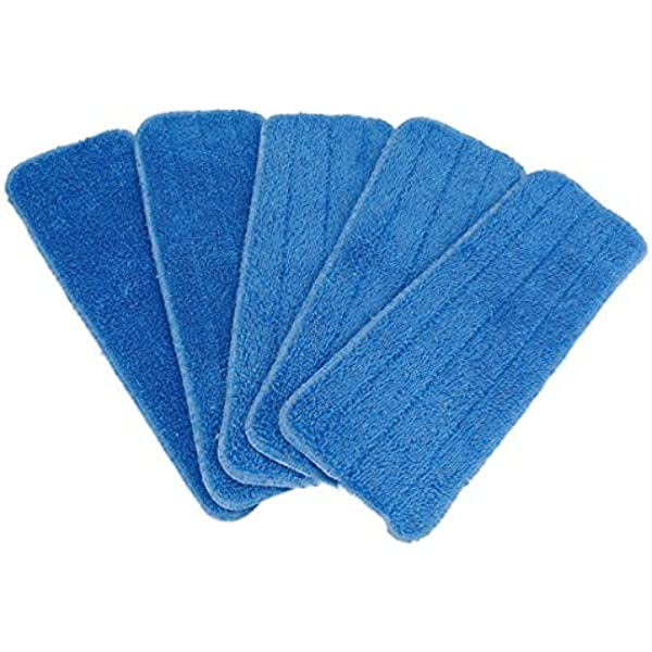 5Pcs Microfiber Spray Mop Refill Cleaning Pads Washable Floor Cleaner Cloth Rags