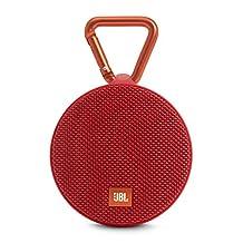 JBL Clip 2 Waterproof Portable Bluetooth Speaker (Red)