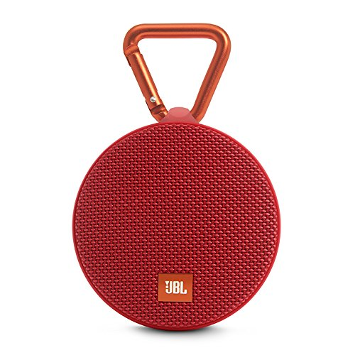JBL Clip 2 Waterproof Portable Bluetooth Speaker (Red)