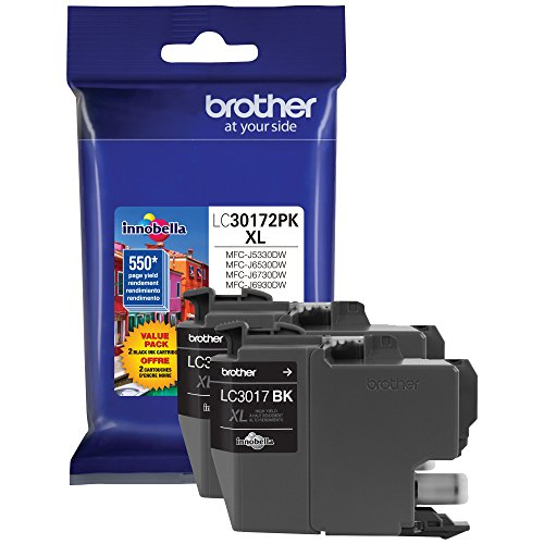 Brother Printer LC30172PK High Yield XL Black Ink Cartrid...