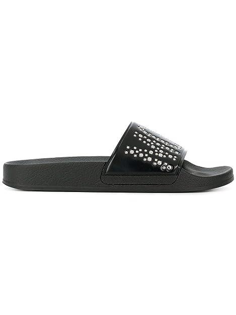 1f2981641ed Moschino Mujer Ma28062g15m14000 Negro PVC Sandalias  Amazon.es  Zapatos y  complementos