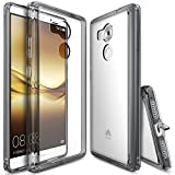 Huawei Mate 8 Case, Ringke [FUSION] Crystal Clear PC Back TPU Bumper [Drop Protection/Shock Absorption Technology][Attached Dust Cap] For Huawei Mate 8 - Smoke Black