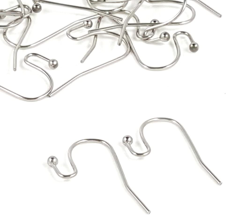 Pack of 12 Silver Plated Brass Earring Hook Ear Wires For Jewellery Making