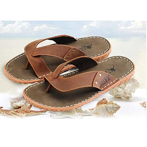 Para Hombres Verano Zapatillas Sandalias Caminar Deportes Senderismo Playa Surf Flip Flops Tamaño