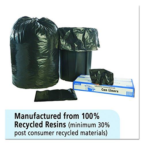 [해외]STOUT by Envision T5051B15 총 재활용 콘텐츠 가방, 100 % Recyled Plastic, 50 x 51, 65 gal 용량, 1.50 mil 두께, Brown Black (100 팩/STOUT by Envision T5051B15 Total Recycled Content Bags, 100% Recyled Plastic, 50  x 51 , 65 gal capac...