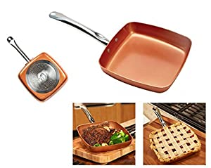 Amazon Com Copper Chef 9 5 Quot Square Fry Pan Kitchen Amp Dining