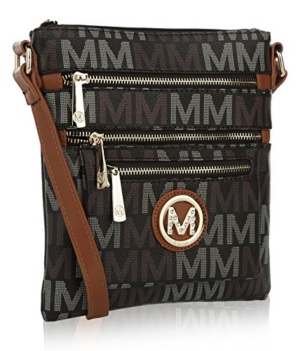 Compartments Signature Farrow Crossbody Brown K MKF Mia Collection Multi by M Beatrice wTYwXqPtv