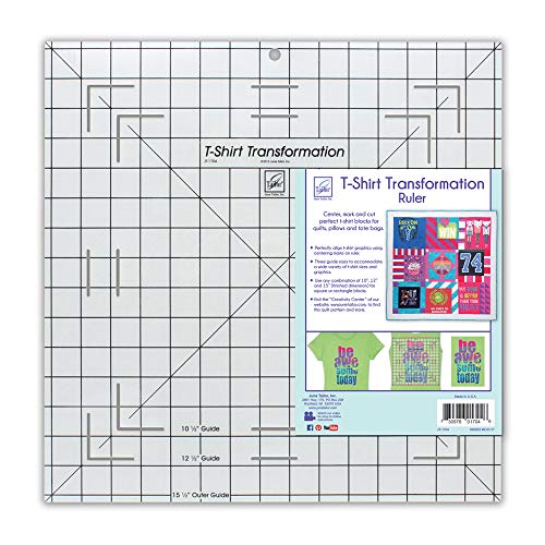 (June Tailor T-Shirt Transformation Ruler, 15-1/2 by 15-1/2-Inch)