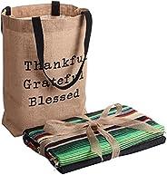 Makuzo Mexican Blankets - Yoga Blanket and Tote Bag - Camping Blanket - Native American Blanket - Navajo Blank