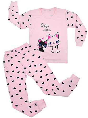 Girls Pajamas Set Cute Cat PJS Kids Clothes 100% Cotton children Sleepwear Pants Set - Kid Comfortable Sleepwear Pants