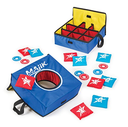 Majik Tic Tac Toss Bean Bag Toss Washer Toss Set with Fabric Case