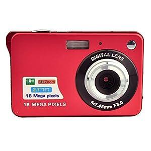 PowerLead PL2802 2.7inch 18MP Mini Digital Camera 8x Digital Zoom (Red)
