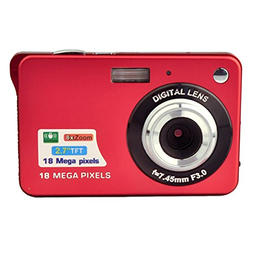 PowerLead PL2802 2.7inch 18MP Mini Digital Camera 8x Digital Zoom (Red)