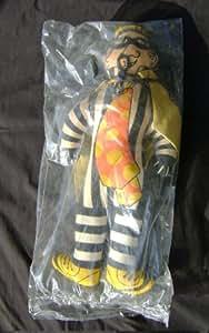 McDonalds Early 1970s Hamburglar Plush/Stuffed Doll Mint/Sealed in Original Bag