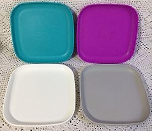 Vintage Tupperware 8 Inch Square Luncheon Plates in 4 Beautiful Colors  sc 1 st  Amazon.com & Amazon.com   Vintage Tupperware 8 Inch Square Luncheon Plates in 4 ...
