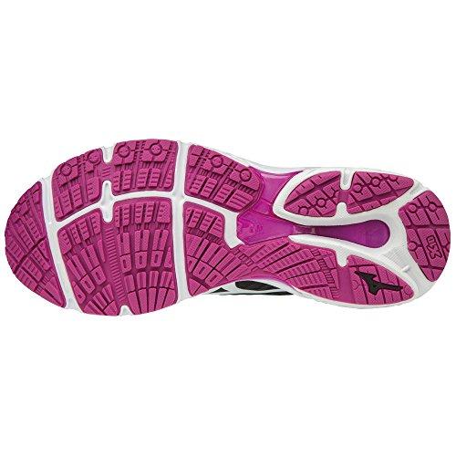 Wave Mizuno Zapatillas De Wos Noir Mujer Stream blanc violet Para Running RBdwB4rq
