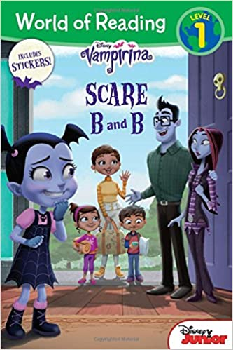 Amazon com world of reading vampirina scare b and b level 1 with stickers 9781368009652 disney book group disney storybook art team