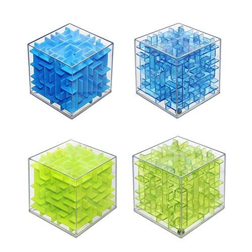 HaloVa 3D Maze Magic Cube, Transparent Magic Cube Puzzle, Sequential
