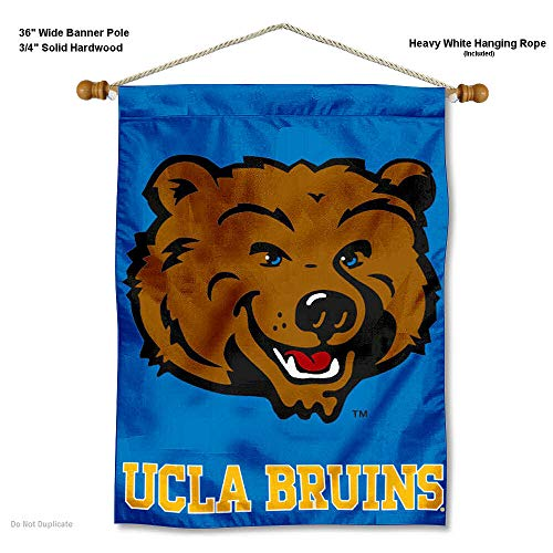 College Flags and Banners Co. UCLA Bruins Banner with Hanging Pole