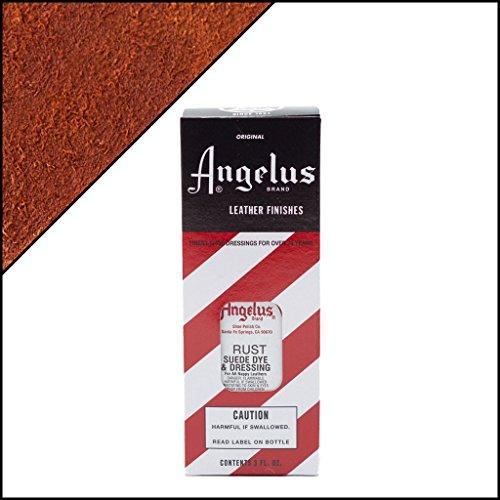 Angelus Brand Suede & Nubuck Dye & Dressing, 3 oz - Rust
