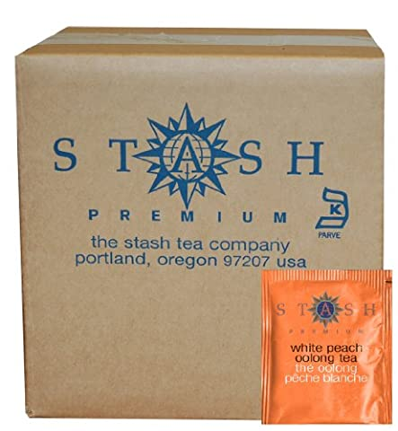 Stash Tea White Peach Oolong Tea, 100 Count Box of Tea Bags in Foil (packaging may vary)