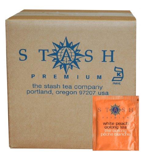 Stash Tea White Peach Oolong Tea, 100 Count Box of Tea Bags in Foil (packaging may - White Peach
