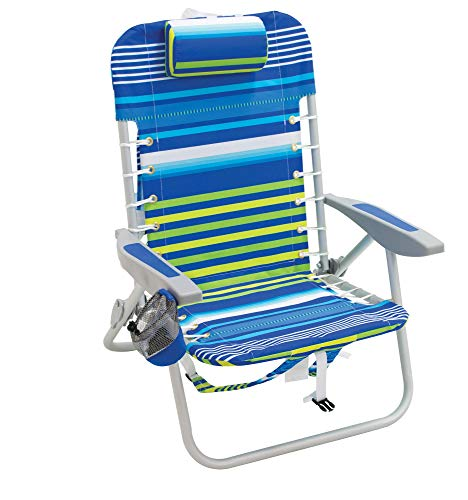 RIO Gear 4-Position Lace-Up Backpack Folding Chair - Stripe, Multi Stripe