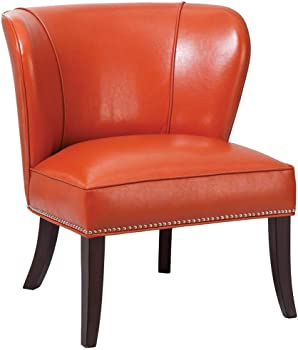Madison Park Janie Faux Leather Accent Chair