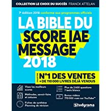 Bible du score IAE message 2018