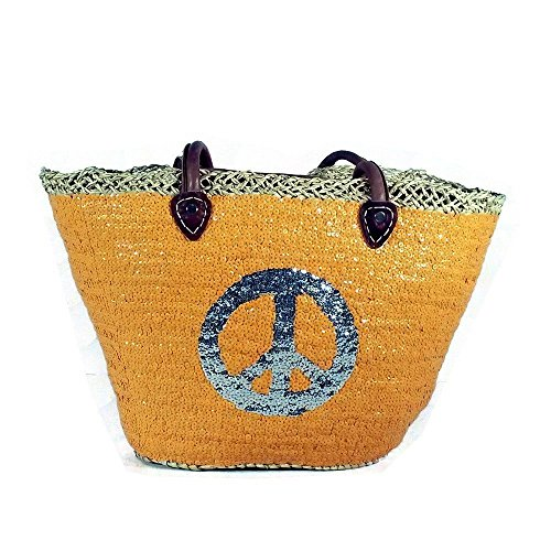 Le Cabas D'anna Hand Stitched Moroccan Glitter Tote Bag