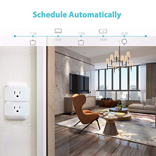 Wifi Smart Plug 2 Pack, Mini Outlet Works with Amazon Alexa Google Assistant IFTTT, No Hub Required, ETL and FCC Listed Remote Control Socket by Refoss (Image #4)