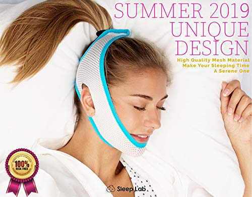 [New 2019] Sleep Lab's Anti Snoring Chin Strap-Soft, Breathable Material & Best Snore Strap, Anti Snoring Devices, Anti-Snore Strip, Sleep Aid for Men, Women & Children, Chin Strap for CPAP Users ...