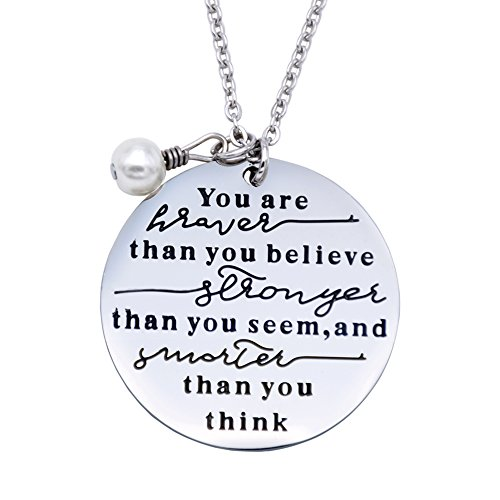 O.RIYA You Are Braver Than You Believe Necklaces / Keyring (Grey)