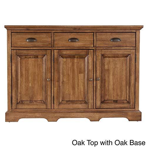 - Inspire Q Eleanor Wood Cabinet Buffet Server by Classic Oak Wood Finish