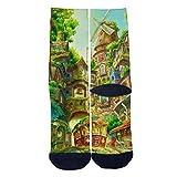 Green Dream City Tube Socks Cool Street Socks Hip Hop Street Professional Skateboard Sports Men Women Socks Black