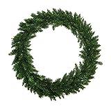 6' Buffalo Fir Commercial Size Artificial Christmas Wreath - Unlit