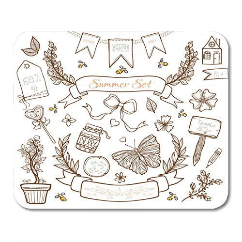 Emvency Mouse Pads Label Chic Other Country Shabby Bunting Floral Cute Cozy Mouse Pad 9.5