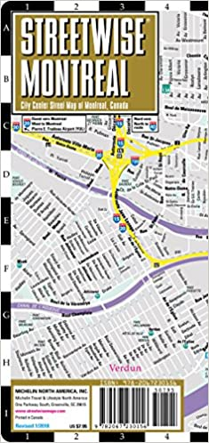 Streetwise Montreal Map - Laminated City Center Street Map of ...
