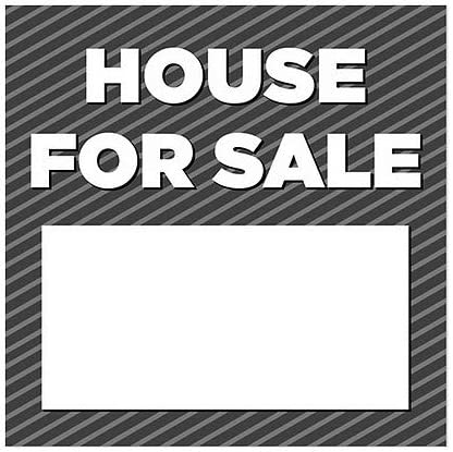 House for Sale 5-Pack CGSignLab 12x12 Stripes Gray Window Cling
