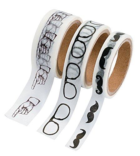 Retro Icons Washi Tape Set - 16 Ft. Of Tape Per Roll (3 Rolls Per - Icon Eyeglasses