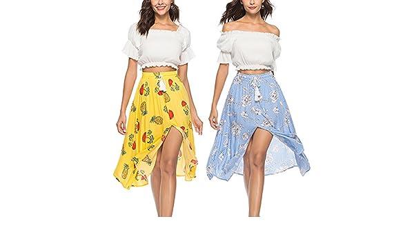 Zantec Falda estilo de Bohemia para las mujeres, elegante falda ...