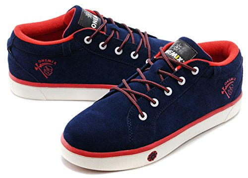 Onemix Mens Skate Shoes Blue/Red XpYBV7Yss
