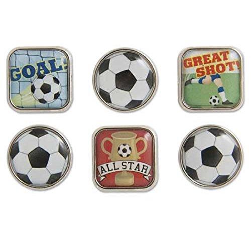 Soccer Bubble Brads 6/Pkg