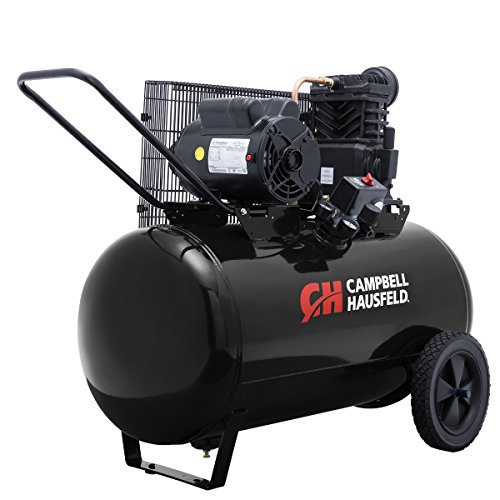 Air Compressor, Portable, 30 Gallon Horizontal Tank, Single Stage, 10.2 CFM, 3.7 HP, 208-230 V, 1 PH (Campbell Hausfeld VT6104)