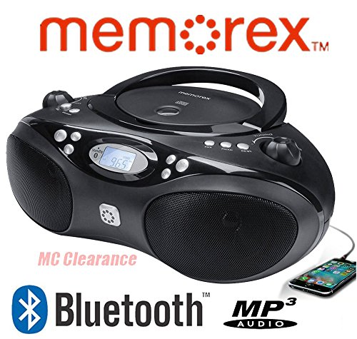 Memorex Bluetooth CD/MP3 Boombox Flexbeats AM/FM Tuner with