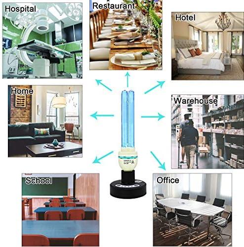 Lámpara UV germicida UVC con bombilla de ozono UV-C de 36 W, temporizador de control remoto 15/30/60 minutos (kit de temporizador remoto de 36 W UVC y ozono)