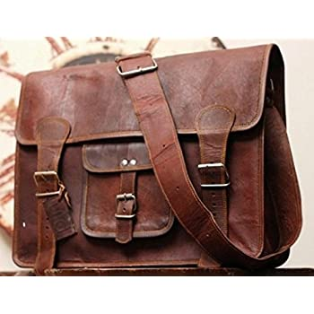 Amazon.com: Phoenix Craft Leather Bag Everyday Messenger bag ...