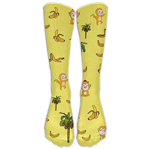 Have Fun Monkey Animal Casual Knee Socks Golf Teen Knee Long Tube Socks by Jiushiwazi