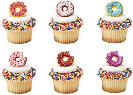 Donut Cupcake Rings 24 pcs product image